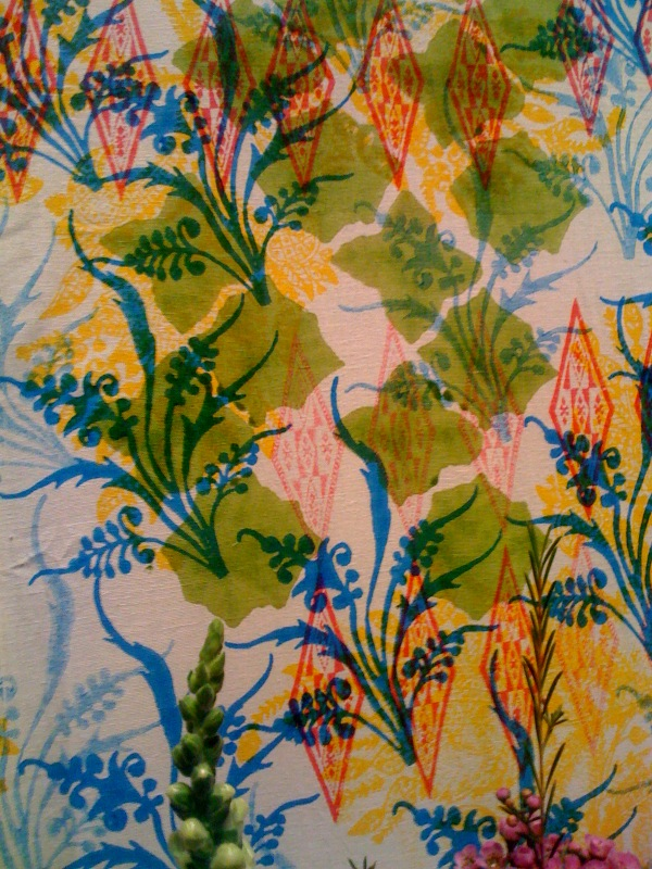 Detail of block printed Dossal by John Robshaw